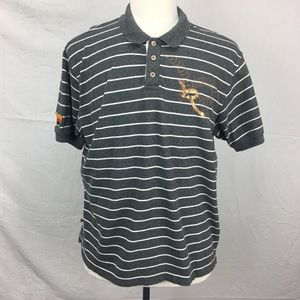 Rocawear Charcoal Striped SS Polo Shirt